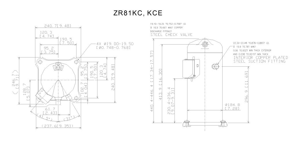 Компрессор спиральный ZR 81 KCE-TFD-422 Copeland, Emerson - фото ZR81.png