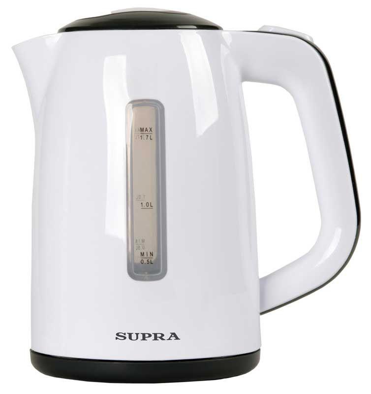 Чайник электрический SUPRA KES-1728, 2200Вт, белый и серый