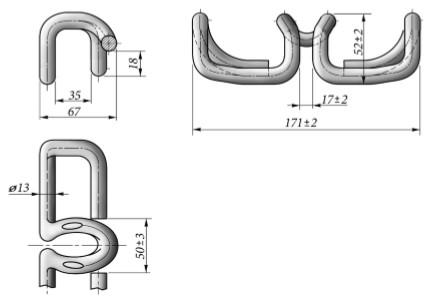Клеммы железнодорожные размеры и конструкция