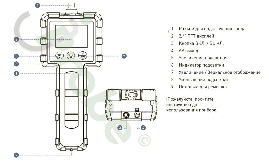 JProbe LT 39-100 Бюджетный видеоэндоскоп , Рабочая длина зонда 1м , Диаметр зонда3.9 мм - фото Широкий функционал jProbe LT