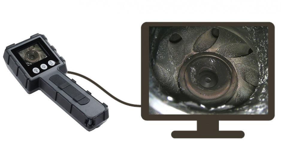 JProbe LT 39-100 Бюджетный видеоэндоскоп , Рабочая длина зонда 1м , Диаметр зонда3.9 мм - фото Вывод изображения на внешний монитор jProbe LT