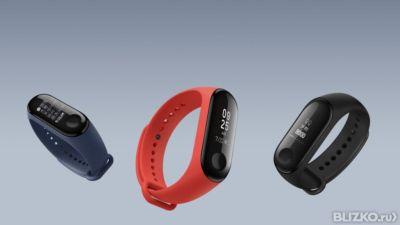 Водонепроницаемый фитнес-браслет Xiaomi SmartBand 3 (синий)