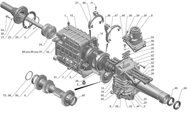 Коробка передач ГАЗель-Бизнес с двигателем Cummins 2.8