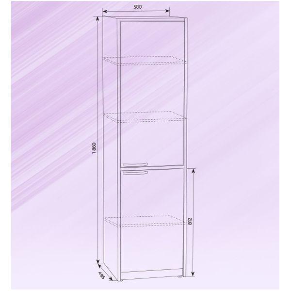 Шкаф медицинский металлический ШРМ-1 - фото yu1034.jpg