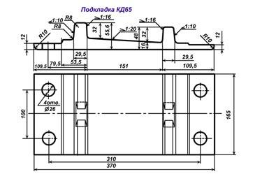 Подкладка КД65 новая ГОСТ 16277-93 - фото Нажмите для увеличения