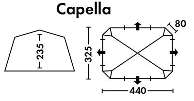 Шатер кемпинговый Capella - фото Capella схема