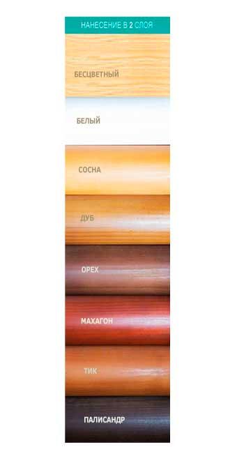 Цветовая палитра деревесины - фото 1