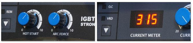 Сварочный инвертор AuroraPRO STRONGHOLD 315 - фото панель управления СТРОНГХОЛД 315