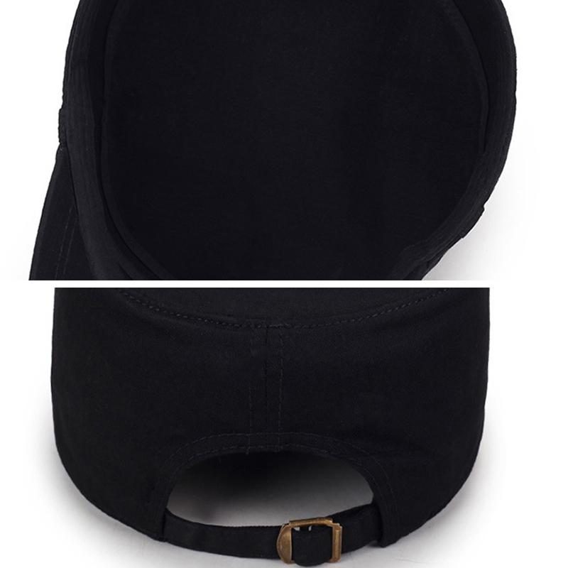 Мужчины Женское сплошной цвет моде хлопок плоские шапки зонтик случайные на открытом воздухе регулируемая шапка - фото 6