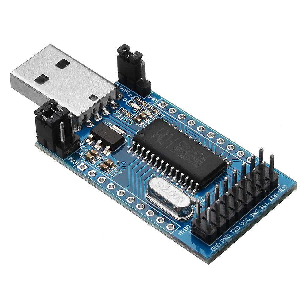 CH341A USB для UART IIC SPI TTL ISP EPP / MEM Модуль параллельного порта для преобразователей Onboard Operating Indicato - фото 1