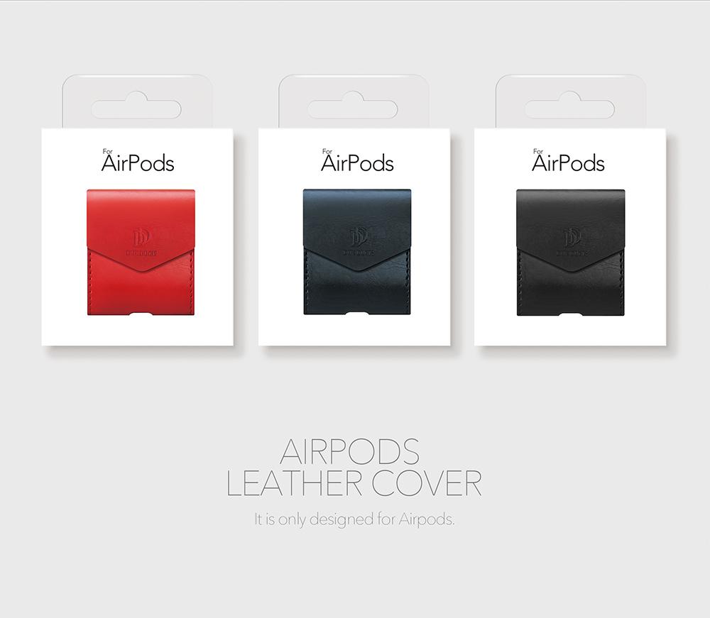 DUX DUCIS Для Apple AirPods Чехол Роскошный кожаный магнитный чехол для Airpods Наушник - фото 11
