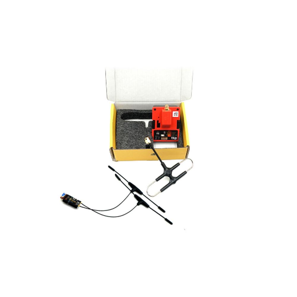 Модуль передатчика Frsky R9M 2019 с частотой 900 МГц и R9 Slim + Приемник с установленной антенной Super 8 и T - фото 6