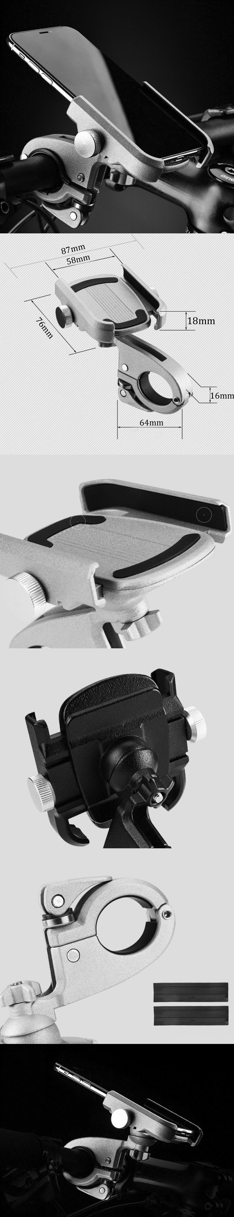 ROCKBROSЧПУмотоциклE-bikeВелосипедВелосипед Держатель телефона для iPhone Xiaomi GPS Держатель телефона Регулируема - фото 1