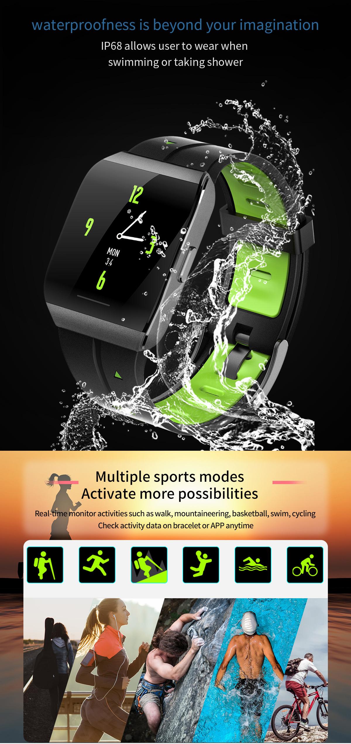 XANES®X11,3-дюймовыйцветнойсенсорныйэкран IP68 Водонепроницаемы Smart Watch Секундомер Фитнес Спортивный браслет - фото 3