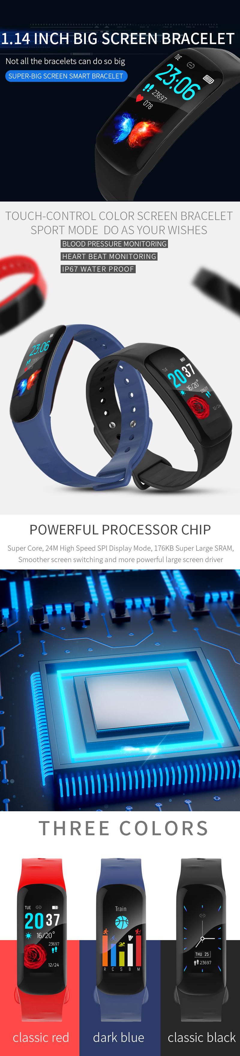 XANES®H021.14''Большойсенсорный экран Водонепроницаемы Smart Watch Спортивный пробег Анти-потерянный Фитнес - фото 1