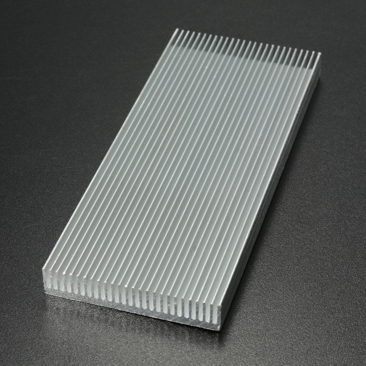 5pcs 100x41x8mm алюминиевый радиатор радиатора радиатора для высокой мощности LED Усилитель Охлаждение транзистора - фото 6