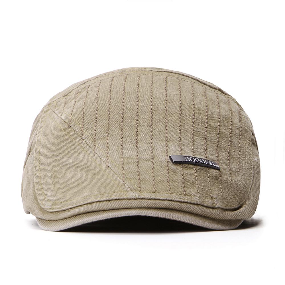 Регулируемые двухсторонние мужчины Женское Беретные шапки маляра Classic Газетчик Такси Шапка - фото 1