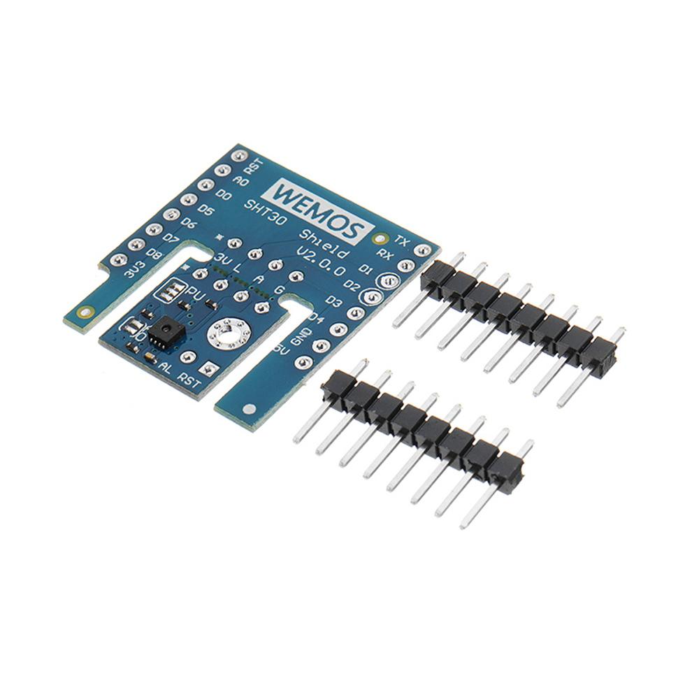 5 шт. Wemos® SHT30 Щит V2.0.0 SHT30 I2C Цифровой модуль температуры и влажности Датчик для D1 мини - фото 1