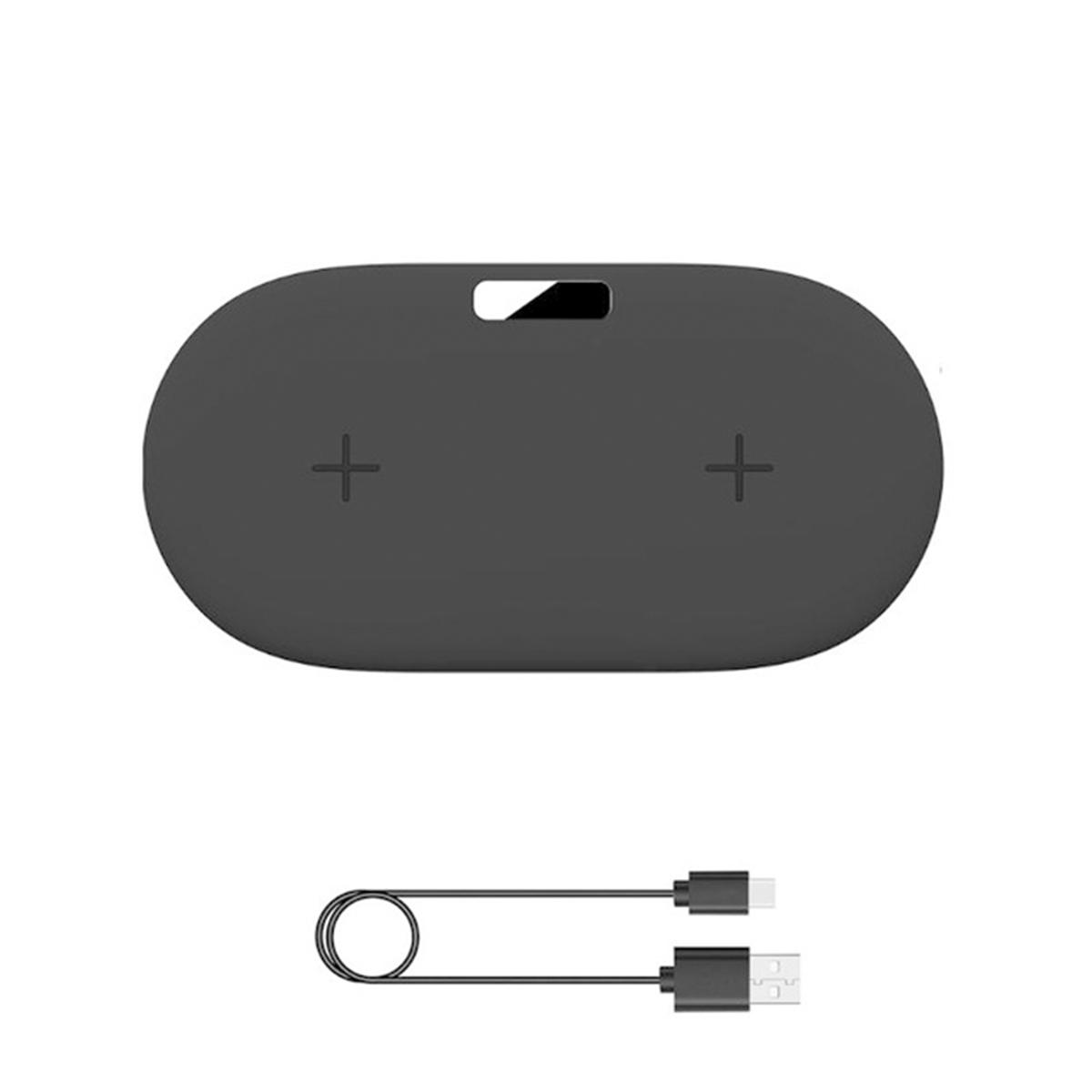 Type-C Порт 2 в 1 10W Беспроводное зарядное устройство Qi Быстрая зарядка Наушник Зарядное устройство для устройств с по - фото 5