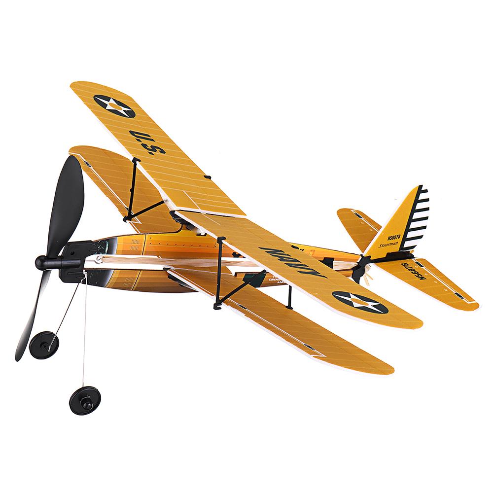 Модель STEM ZT 18 дюймов STEARMAN Rubber Стандарты Модель самолета с воздушным двигателем - фото 1