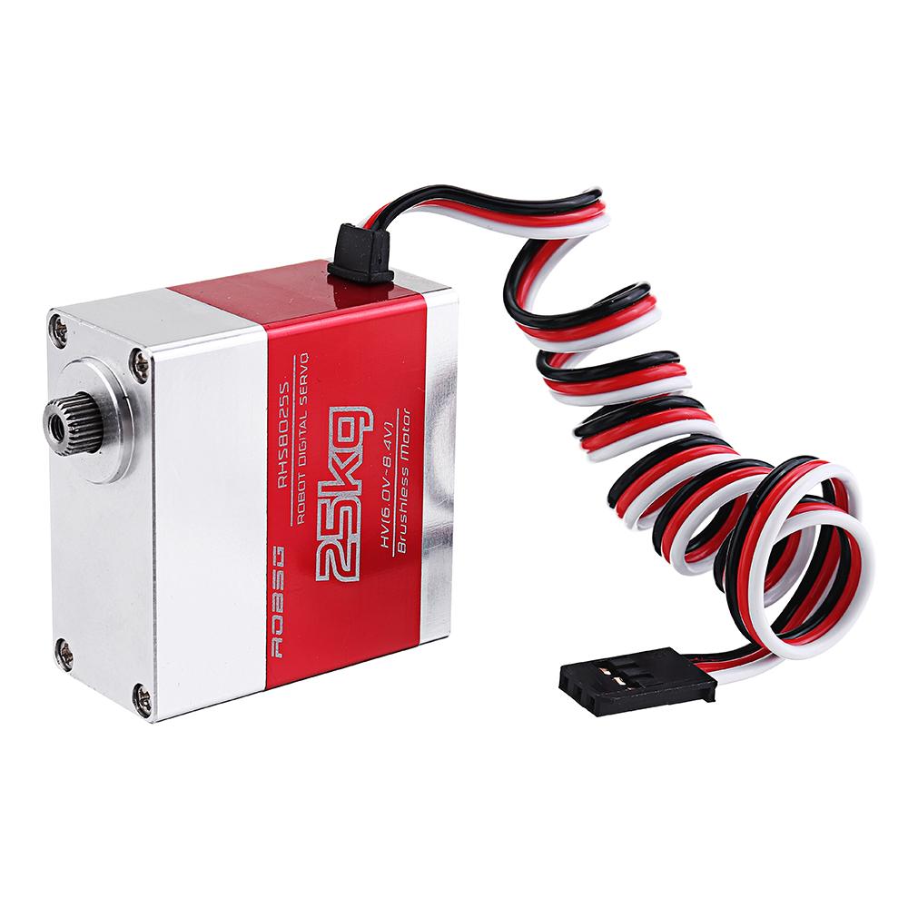 ROBSG RHS8025S 25KG Бесколлекторный Металлический редуктор с двойным шарикоподшипником Digital Сервопривод Для 1/8 1/10 - фото 5