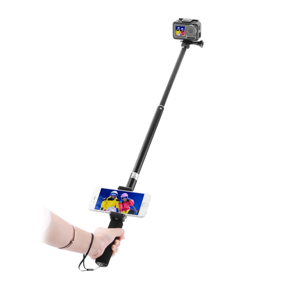 Спорт камера Удлинитель Ручной Gimbal Кронштейн со съемным зажимом для телефона для DJI Osmo Действие камера - фото 6