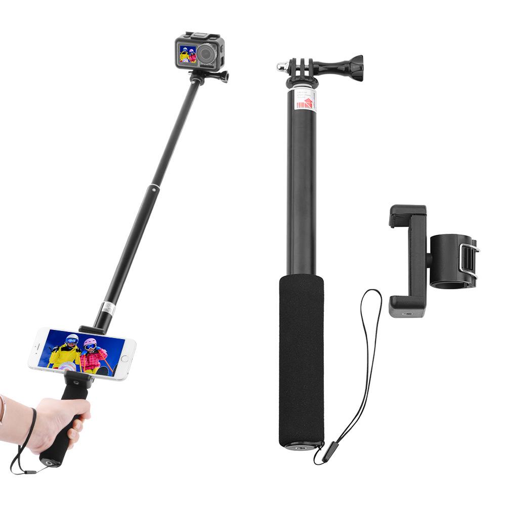 Спорт камера Удлинитель Ручной Gimbal Кронштейн со съемным зажимом для телефона для DJI Osmo Действие камера - фото 2