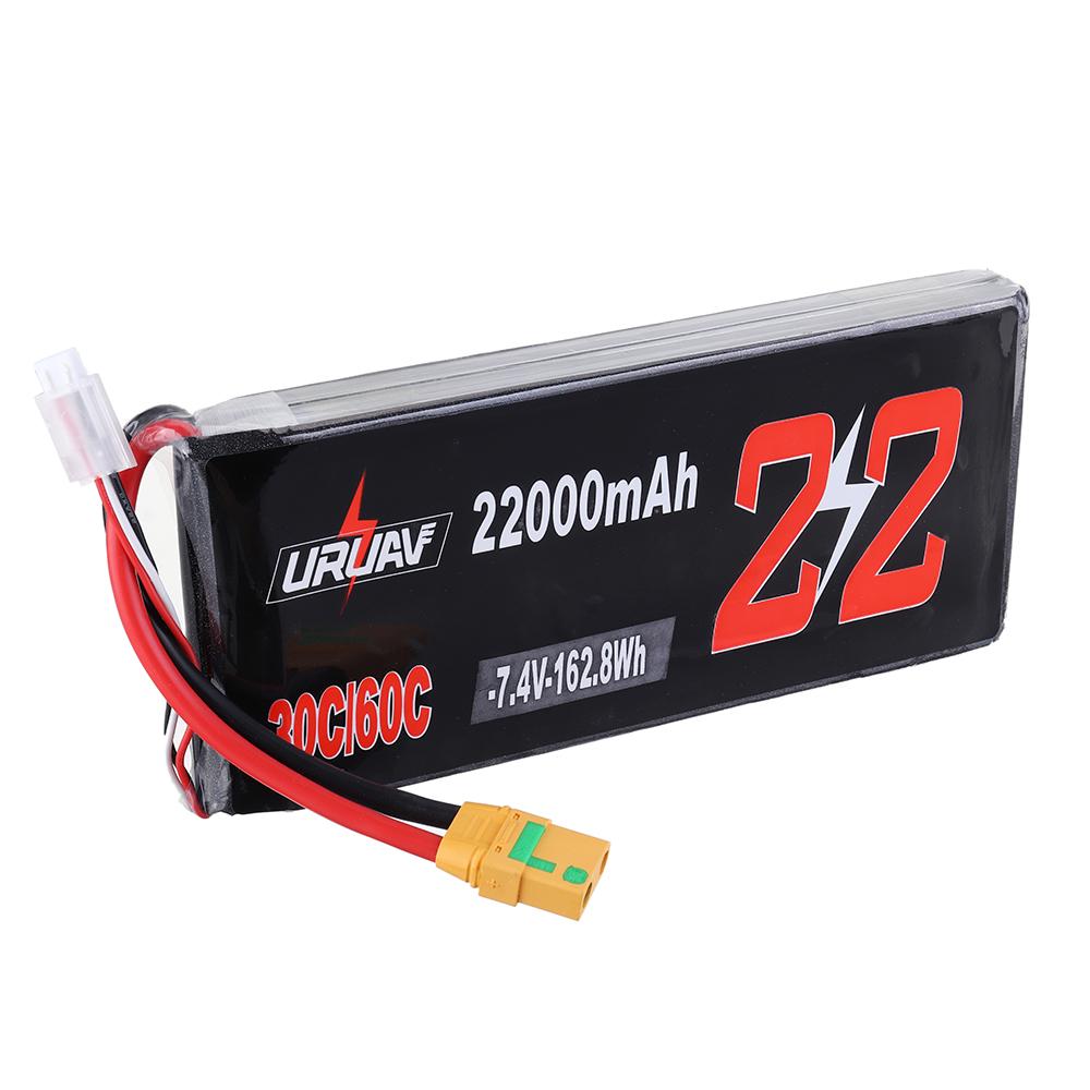 URUAV 7.4V 22000mAh 30 / 60C 2S XT90 Разъем Lipo Батарея для РУ Квадрокоптер Сельское хозяйство Дрон - фото 4