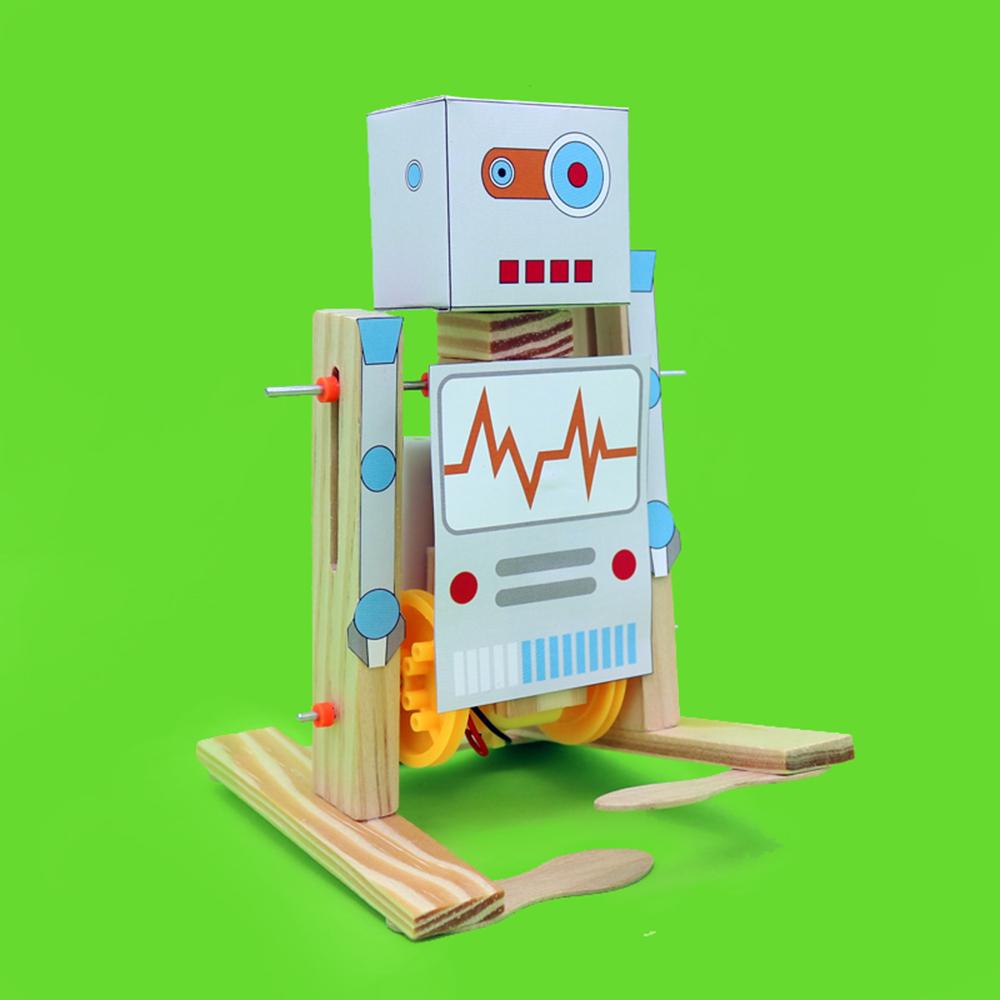 DIY Электронный ходячий робот DIY Обучающий игрушечный робот Собранная игрушка для детей - фото 2