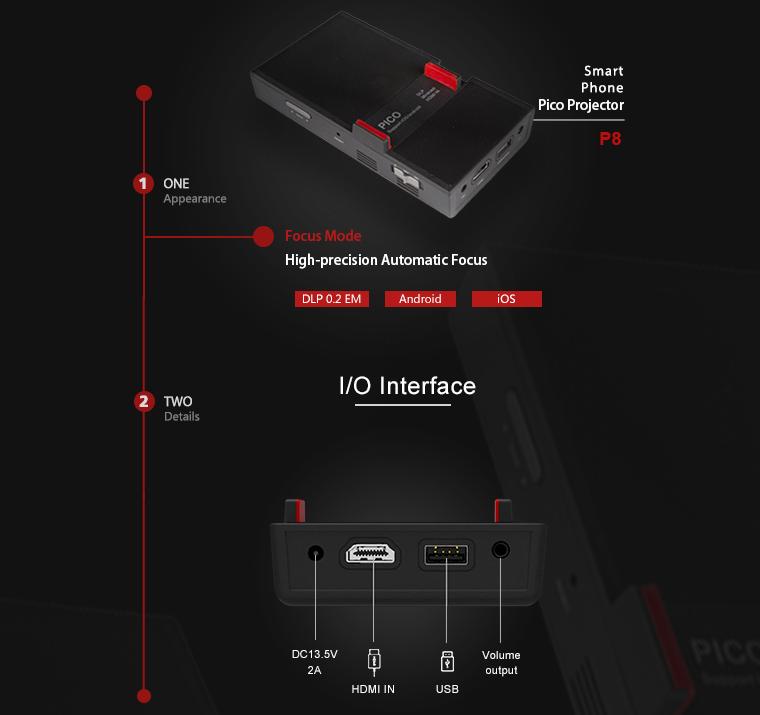 DMP8DLP1920*1080 1080P 200 люмен СВЕТОДИОД Проектор Мини домашний кинотеатр HD Мини Проектор Bluetooth 4.0 - фото 1