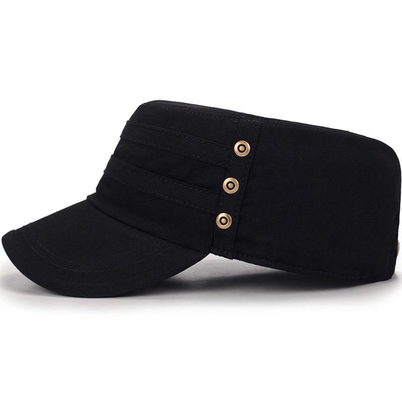 Мужчины Женское сплошной цвет моде хлопок плоские шапки зонтик случайные на открытом воздухе регулируемая шапка - фото 2