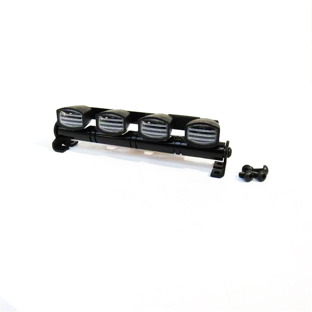 MN-90 1/12 2.4G 4WD Rc Авто Обновление деталей Белый Светодиодный Прожектор с металлическим основанием - фото 1