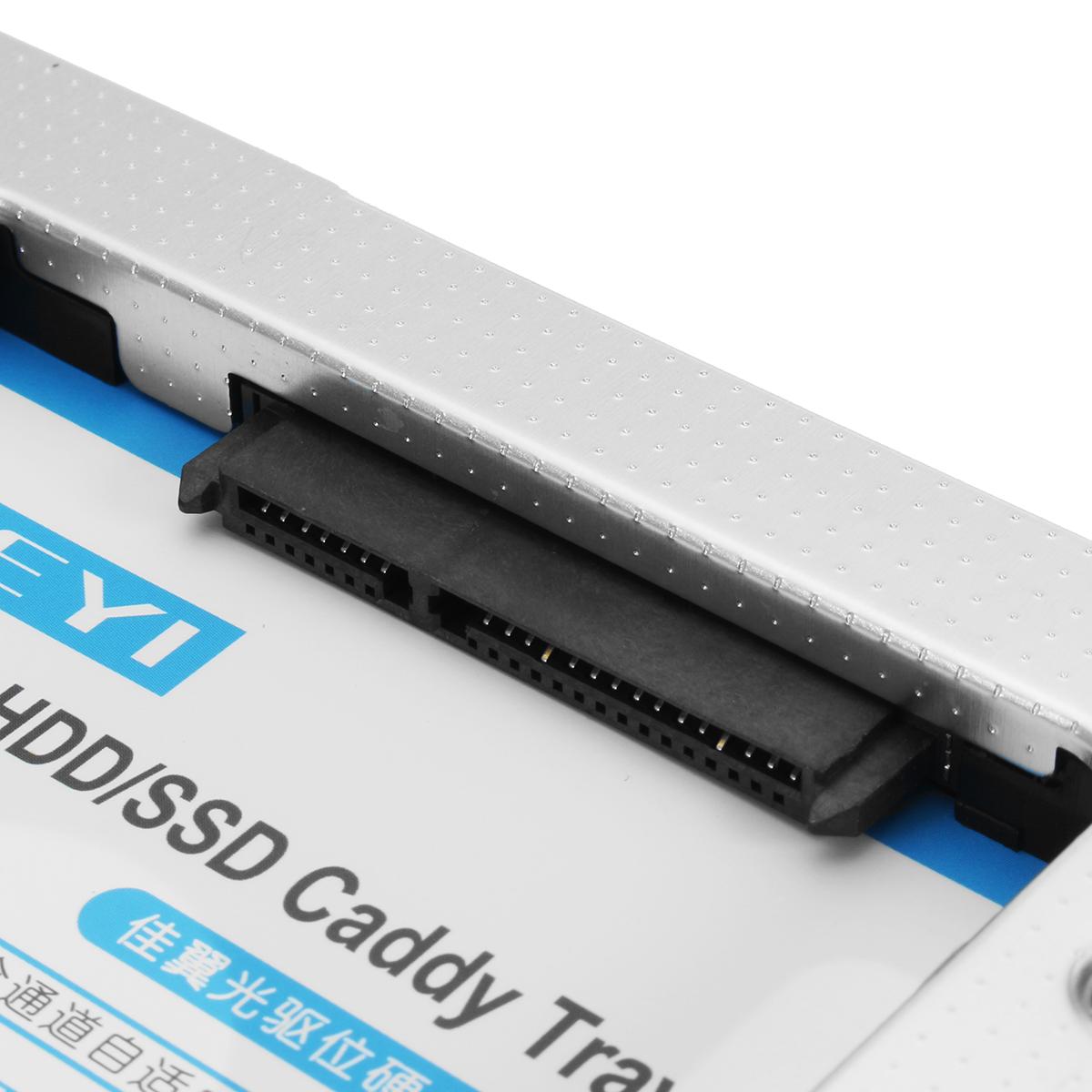 JEYI Universal SATA 9,5 мм 12,7 мм жесткий диск SSD жесткий диск Caddy Tray Laptop CD / DVD-ROM жесткий диск Caddy - фото 5