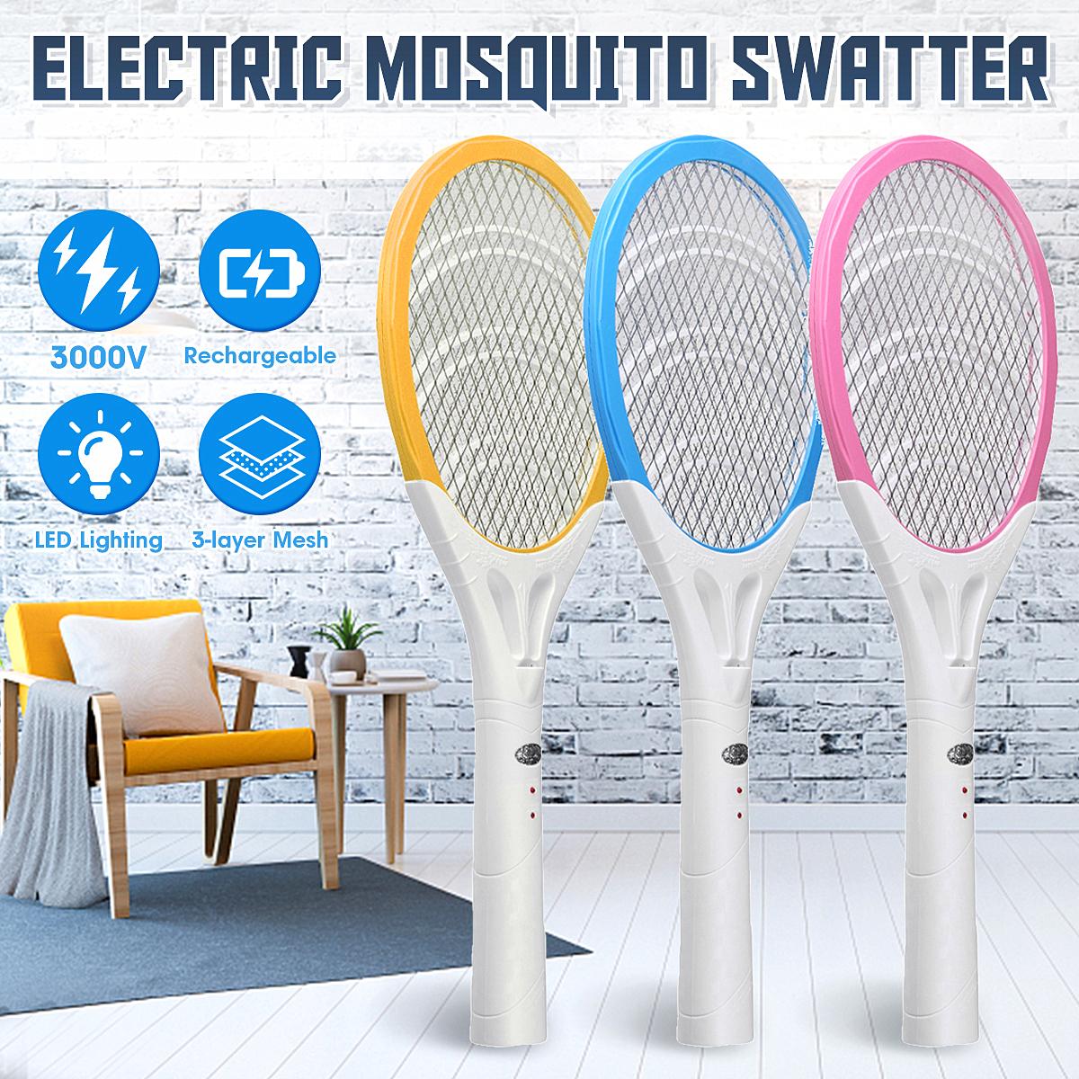 Мухобойка электрическая Мухобойка Мухобойка Zapper Bug Zapper Ракетка для тенниса Форма Убивает насекомых Комариные кома - фото 1