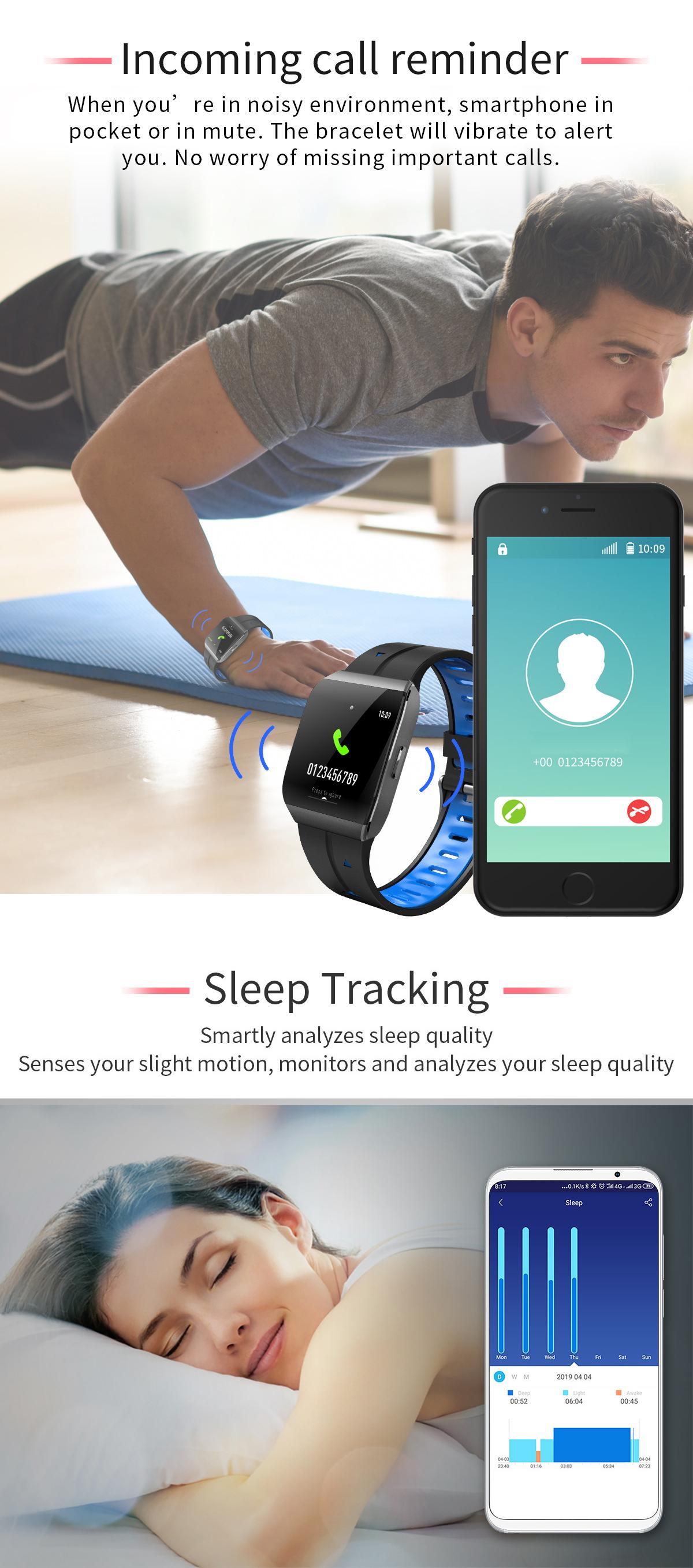XANES®X11,3-дюймовыйцветнойсенсорныйэкран IP68 Водонепроницаемы Smart Watch Секундомер Фитнес Спортивный браслет - фото 6