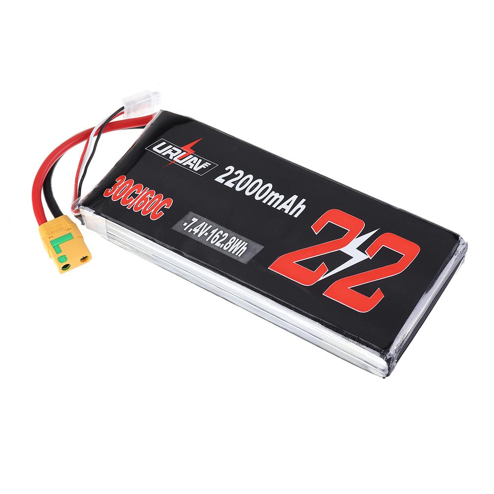 URUAV 7.4V 22000mAh 30 / 60C 2S XT90 Разъем Lipo Батарея для РУ Квадрокоптер Сельское хозяйство Дрон - фото 5