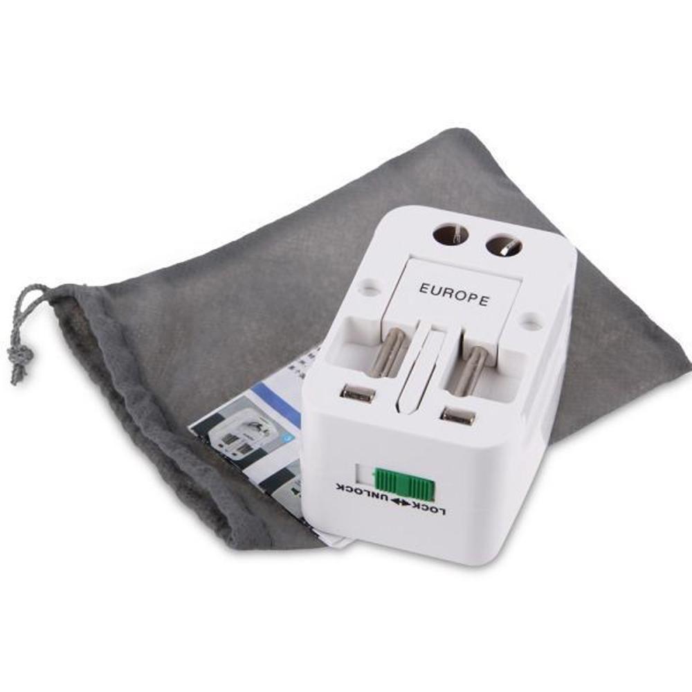 Все в One универсальный международный штекер адаптер 2 USB-порт World Travel AC зарядное устройство адаптер с AU США Вел - фото 6