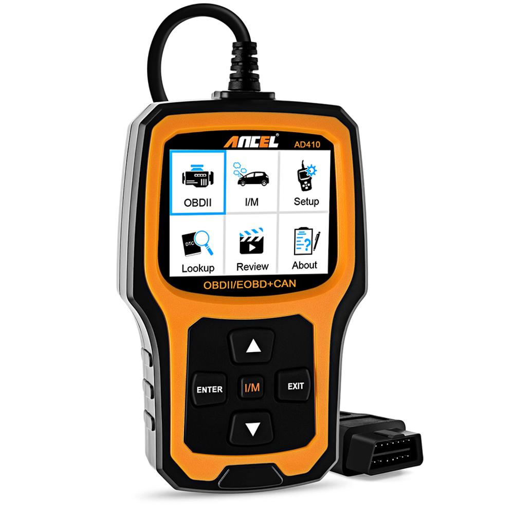 Ancel AD410 OBD2 Оригинальный OBD EOBD Automotive Авто Диагностический сканер Инструмент Сканер кодов Набор - фото 2