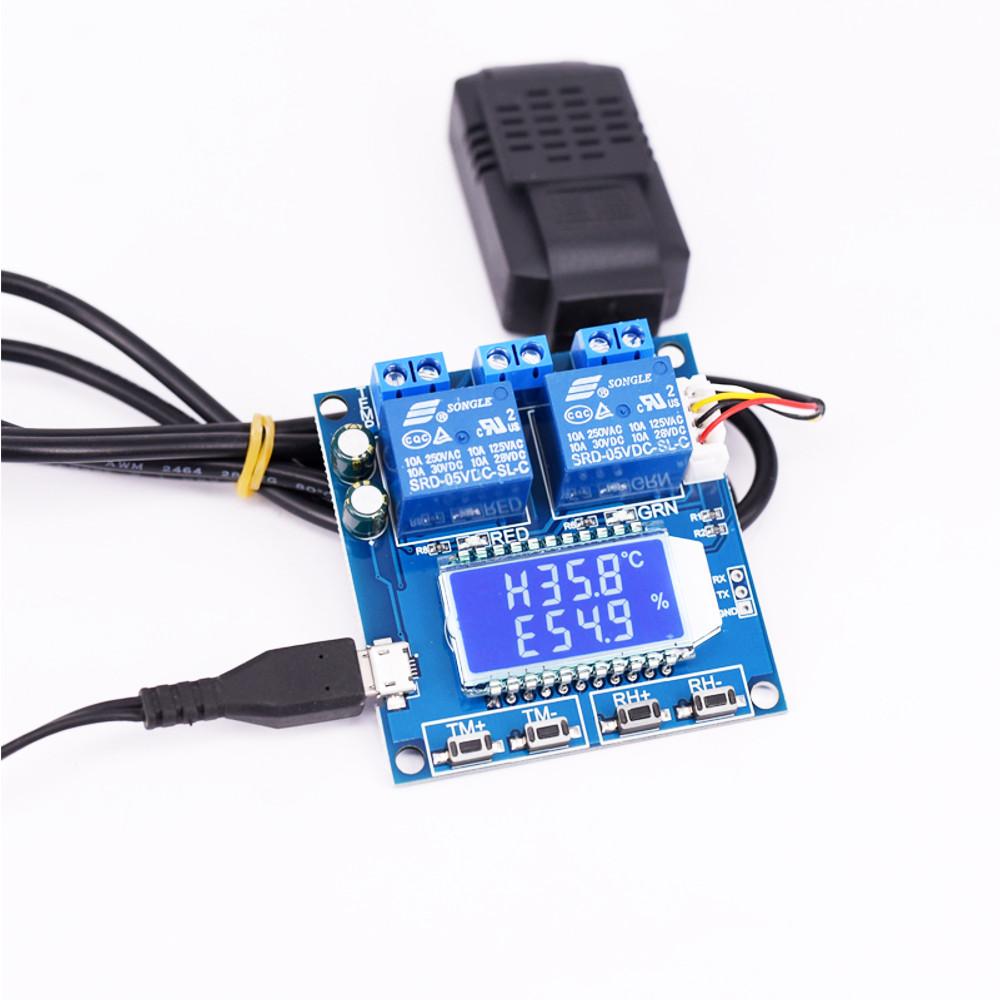 Цифровой Дисплей модуль контроля температуры и влажности с двойным выходом Автоматическая приборная панель с Датчик - фото 3