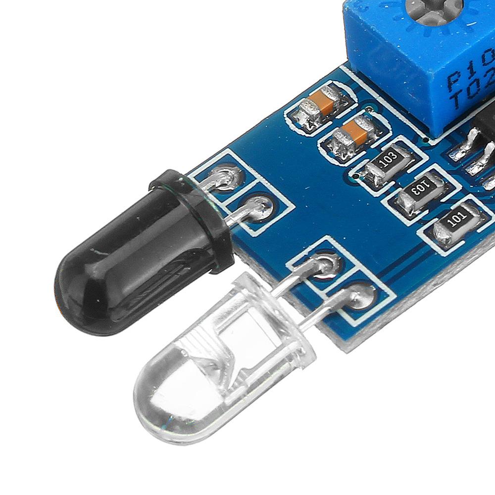 Фотоэлектрический Датчик инфракрасный модуль сигнализации предупреждения отражения препятствий 30шт - фото 6