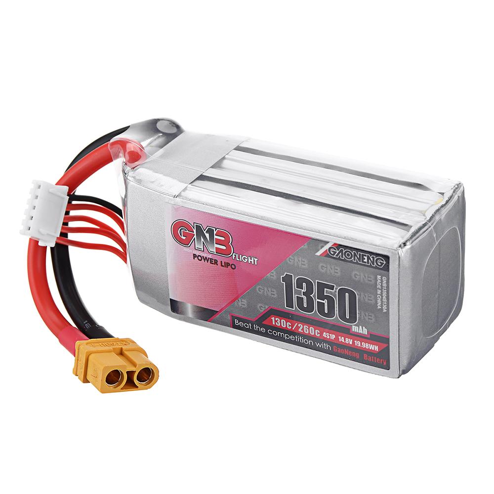Gaoneng 14,8 В 1350 мАч 130C / 260C 4S Lipo Батарея XT60 Разъем для FPV Racing Дрон - фото 10