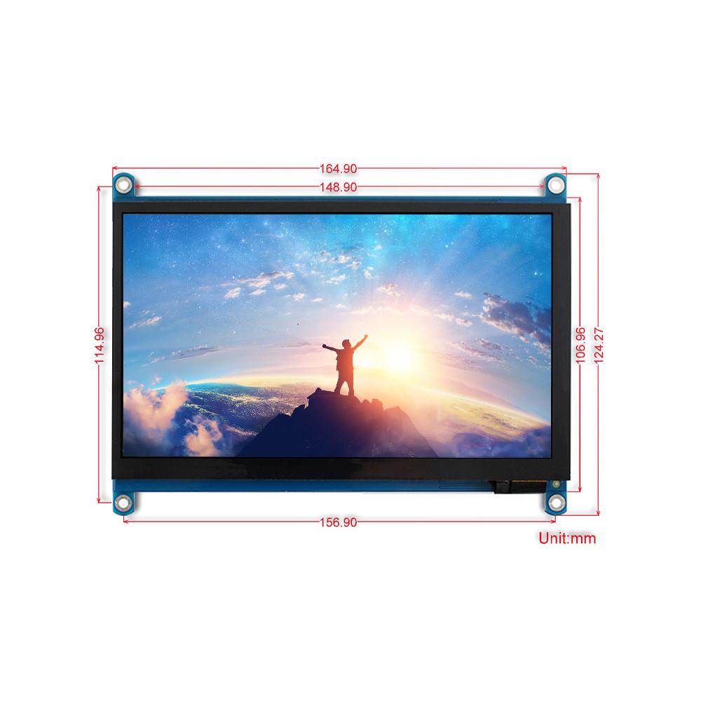 Wareshare 7 дюймов IPS HDMI Дисплей Емкостный сенсорный экран из закаленного стекла 1024x600 для игровой консоли Jetson - фото 5
