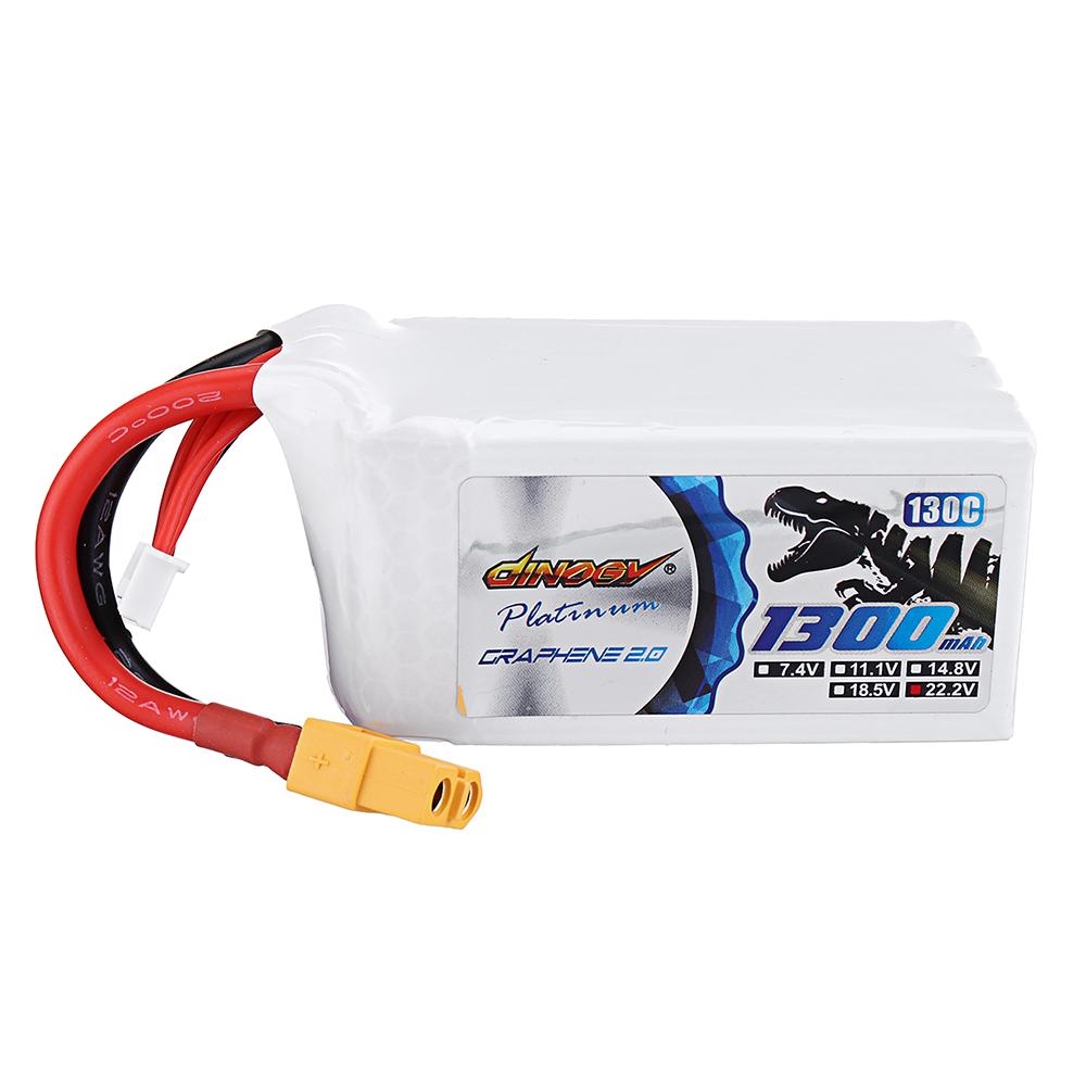 DINOGY ULTRA GRAPHENE 2.0 22.2V 1300mAh 130C 6S Lipo Батарея XT60 Разъем для RC Racing Дрон - фото 1