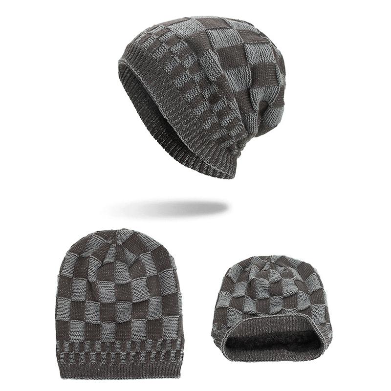 МужчиныЖенскоеЗимнийтеплыйкоралловыйфлис Тушеные шапочки Шапочки На открытом воздухе Двойные слои Трикотажные Шапка - фото 9