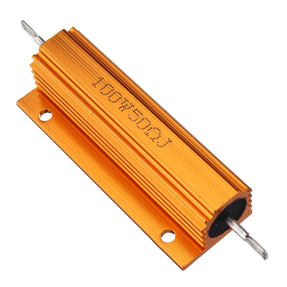 5шт RX24 100 Вт 50R 50RJ Металлический Алюминий Чехол Мощный Резистор Золотой Металлический Корпус Чехол Сопротивление Р - фото 2