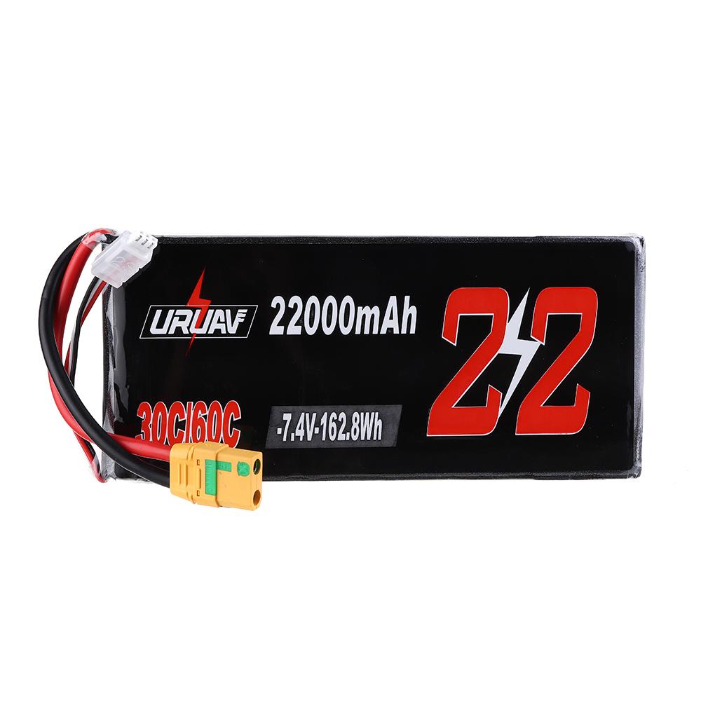 URUAV 7.4V 22000mAh 30 / 60C 2S XT90 Разъем Lipo Батарея для РУ Квадрокоптер Сельское хозяйство Дрон - фото 10