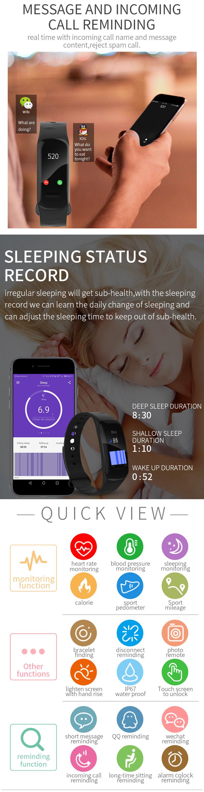 XANES®H021.14''Большойсенсорный экран Водонепроницаемы Smart Watch Спортивный пробег Анти-потерянный Фитнес - фото 3