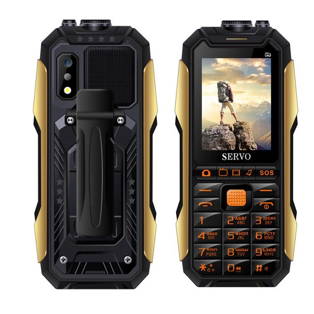 SERVO X7 2.4 '' 4000mAh Антенна Аналоговое изменение голоса телевизора Лазер Фонарик OTG 3 SIM-карты с функцией - фото 2