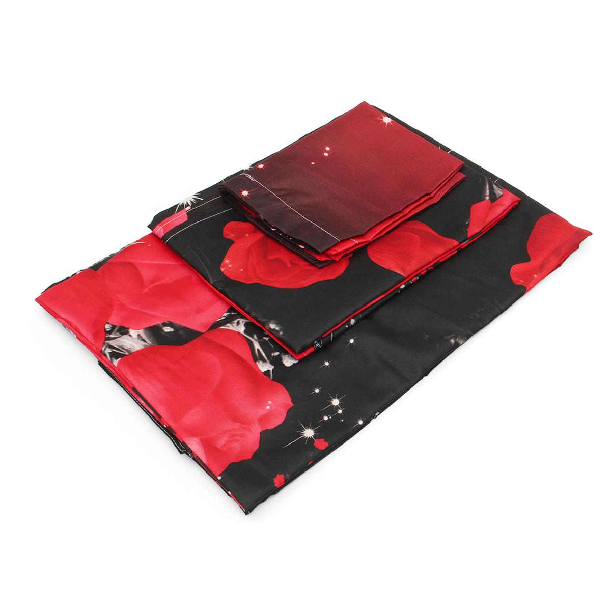 4шт.3D-изображенияНаборыдляпостельного белья Комплект подошв 1 Одеяло Обложка 1 Оборудованный лист 2 Подушки - фото 3
