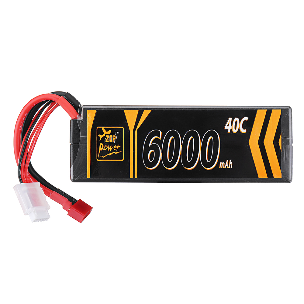 ZOP Power 14.8V 6000mAh 40C 4S Lipo Батарея T Plug для RC Авто RC Самолет - фото 4